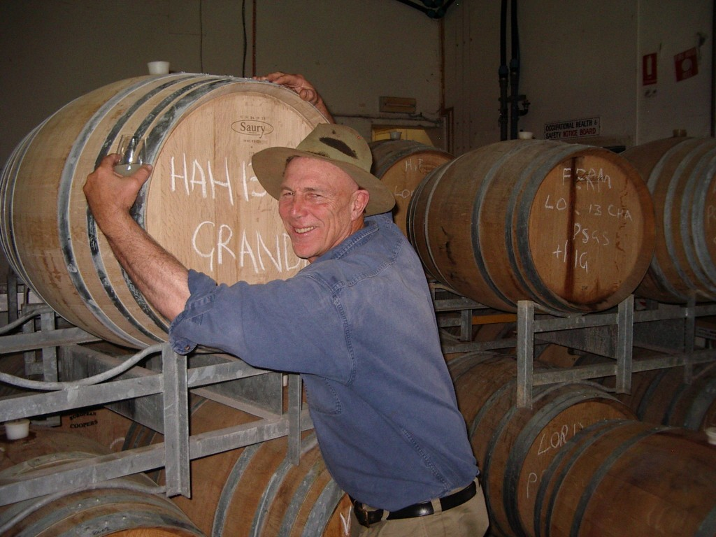 Larry and Gruner Veltliner barrel.