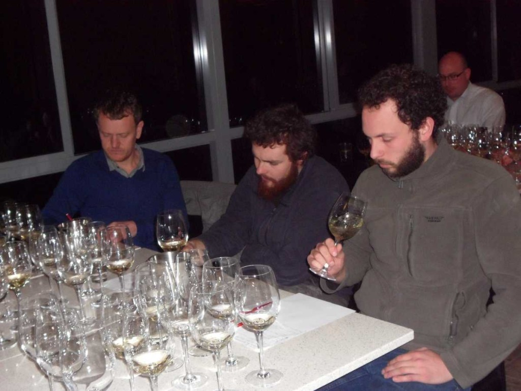 Gruner Veltliner tasting at Hahndorf Hill with Michael Sykes (left)