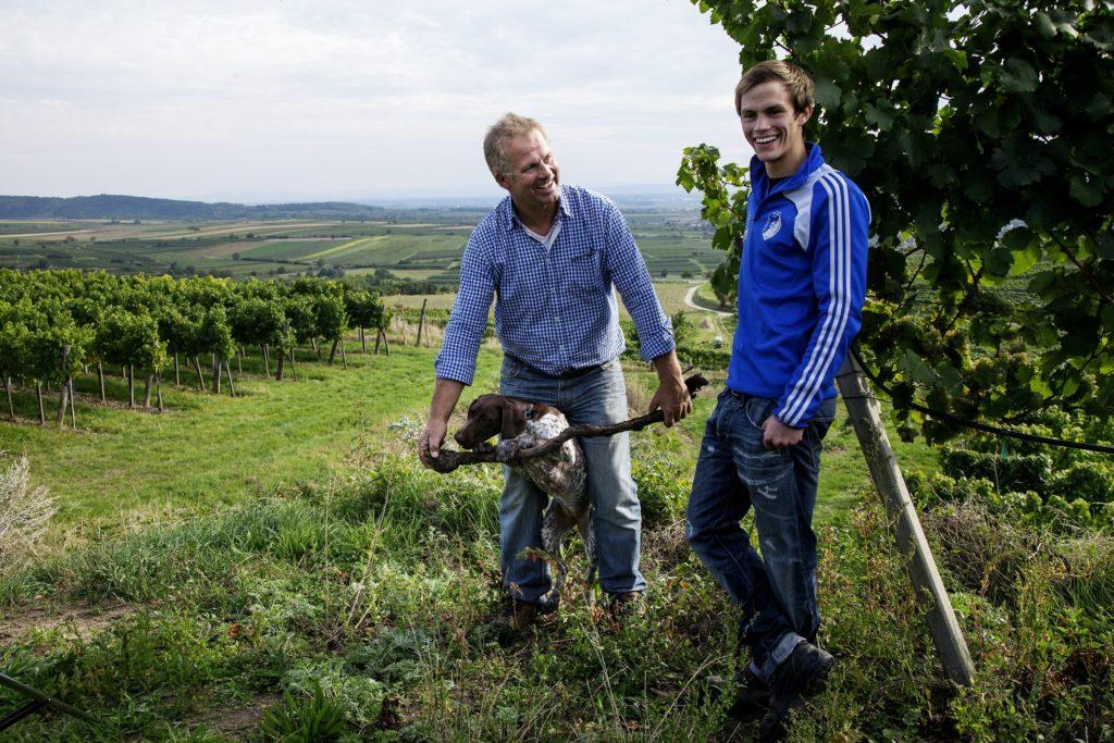 Erich and Lorenz Haas of Weingut Allram in the Kamptal